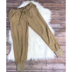 Zara joggers loose size large tan pants